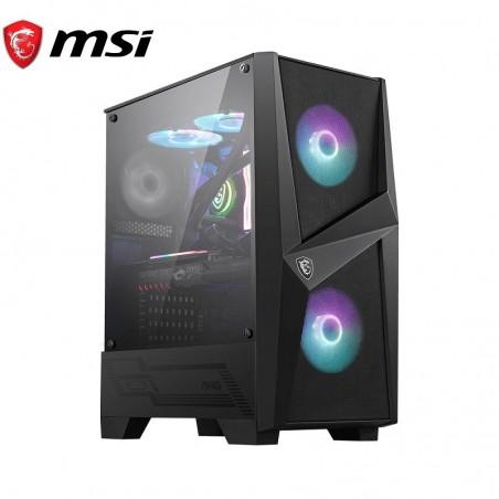 Gabinete MSI MAG FORGE 100R, Vidrio Templado, Malla Frontal, 2x Fan RGB, Mid Tower ATX