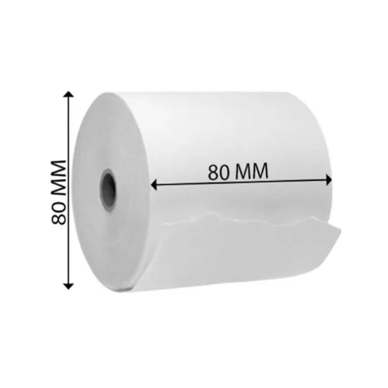 Rollos Termicos 80x80, caja de 20 u 55gr