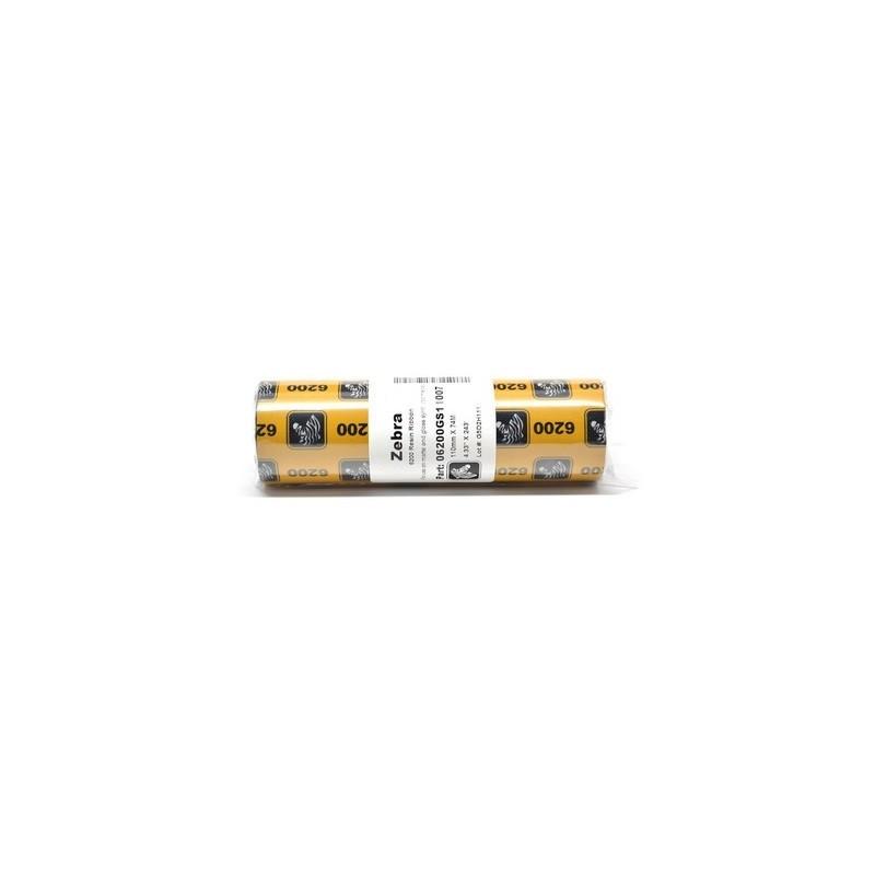 Cinta de transferencia termica 110x74, resina Zebra 6200